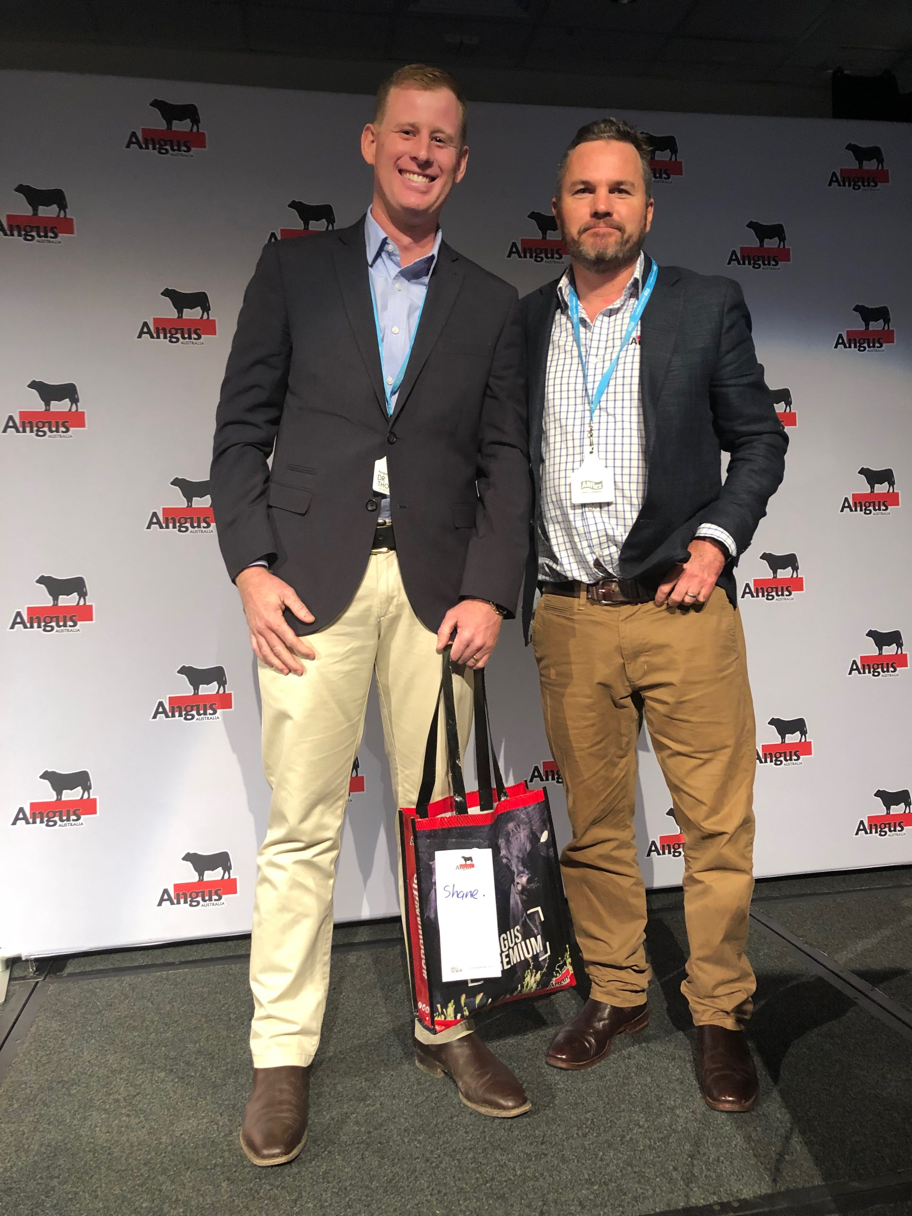 Christian Duff, Angus Australia with Shane Thomson, Holbrook Vet Centre