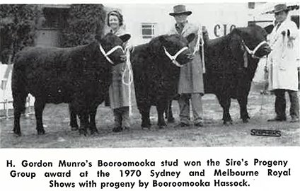 Sires progeny winners Melbourne Royal 1970 Australian Angus Journal 1970