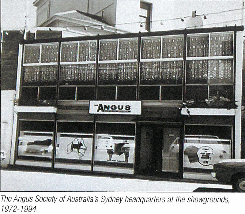 Angus Society of Australia Office Sydney Showgrounds 1972-1994