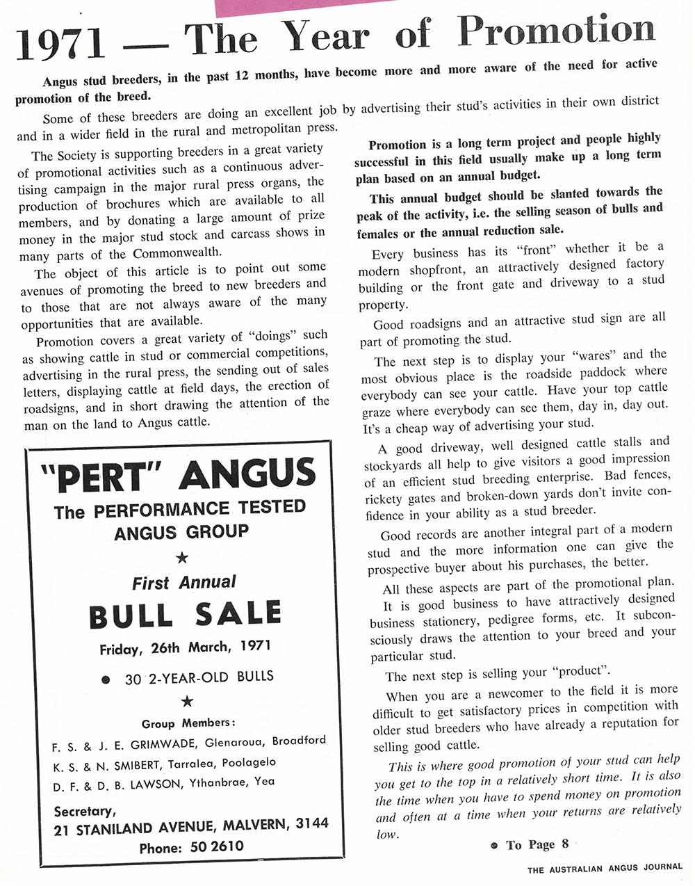 1971 Angus Journal
