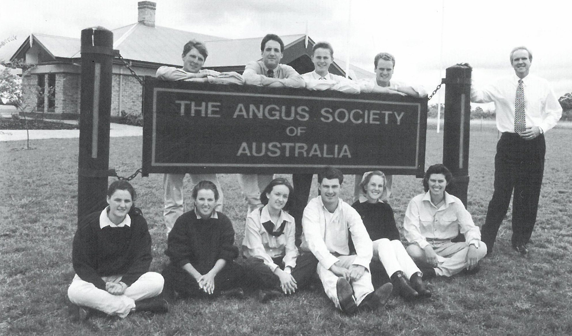 The first Angus Youth Management Committee, pictured in 1996, Australian Angus Journal 1997