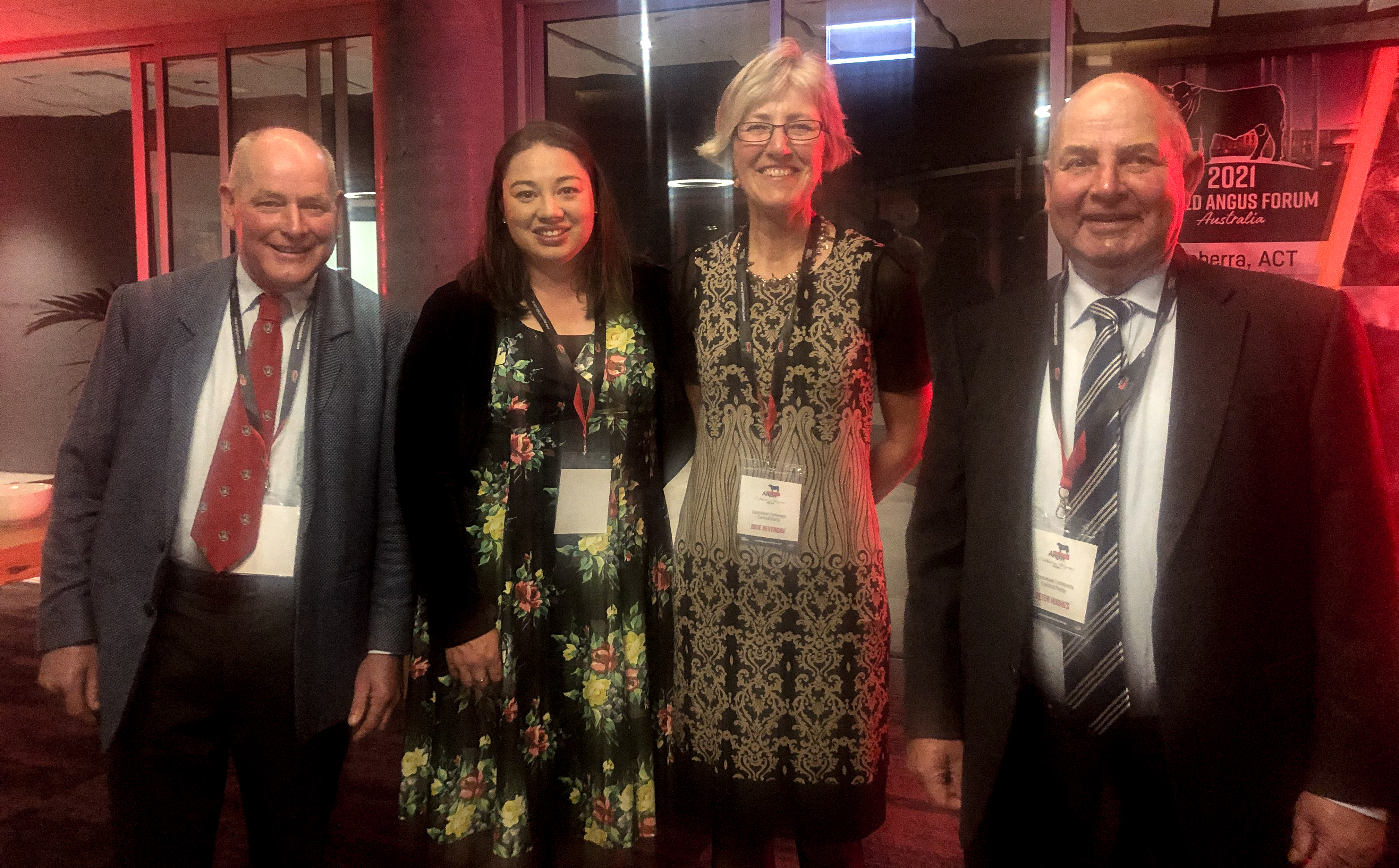 Gerald Archer, Sam Dobson, Josie Beveridge and Peter Hughes at the Tasmanian Centenary Function