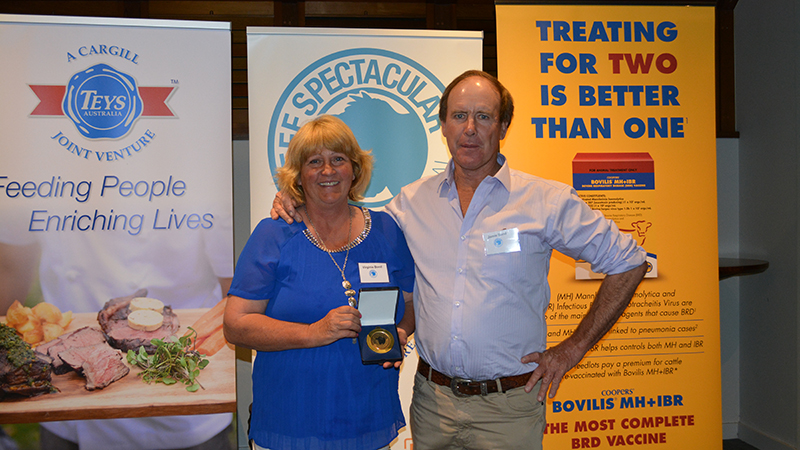 Eigth in the new eating quality awards went to Virginia and Jamie Bond, Tooma.  Image courtesy of The Land
