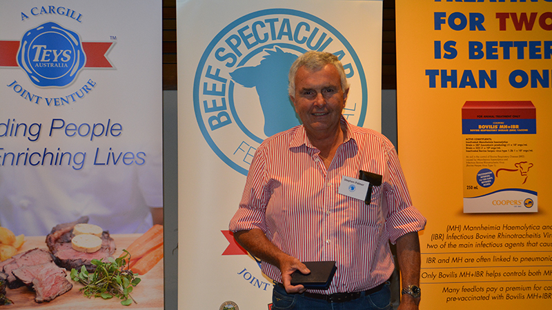 Stephen Palmer of Kyeamba Downs Partnership, Wagga Wagga, received fourth in the eating quality awards, with Angus steers.  Image courtesy of The Land