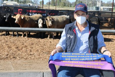 Adam Armstrong of Russell Pastoral Company had a great day out. Image: Beef Central